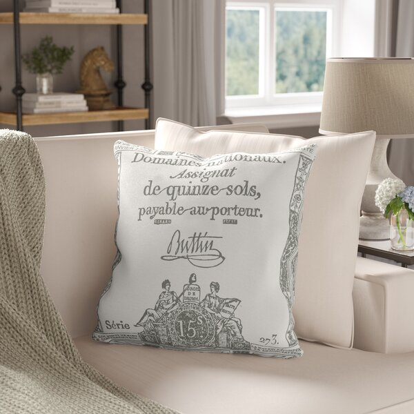 Lowe Square 100% Cotton Throw Pillow Cover by Ophelia & Co.